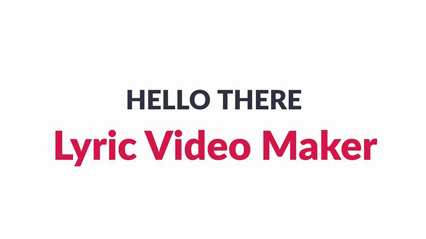 Lyric Video Maker | Making lyric video