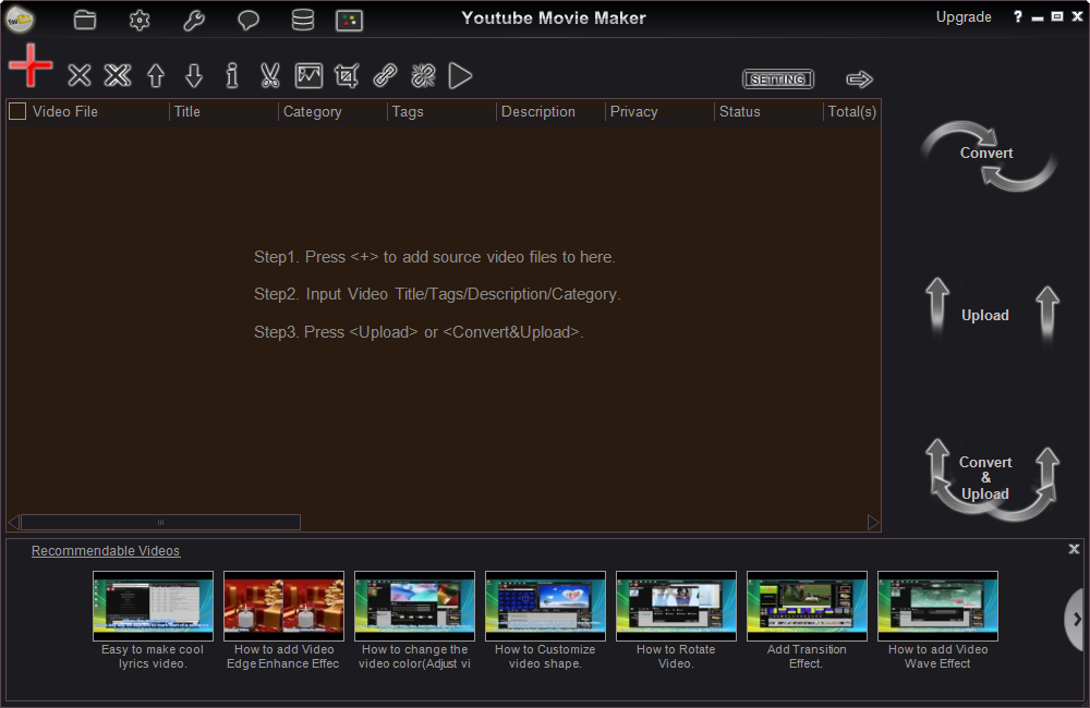 How to use youtube movie maker to upload lots of videos onto youtube upload video onto youtube ccuart Choice Image