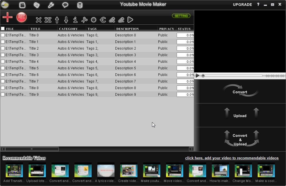 Youtube Movie Maker Screenshots.